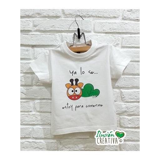 Camiseta Línea Chiquinete Jirafa Amapola.- Lo sé estoy para comerme