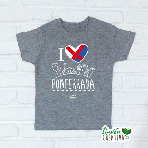 Camiseta Niñ@s - I Love Ponferrada [2]