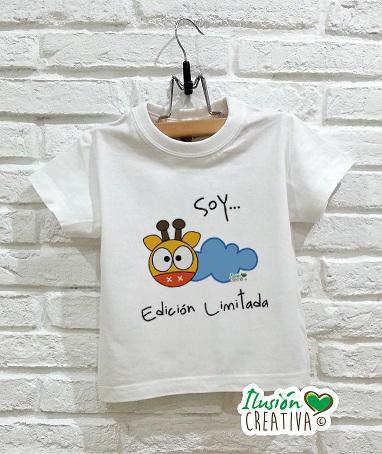 Camiseta Línea Chiquinete Jirafa Amapola.- Soy edición limitada