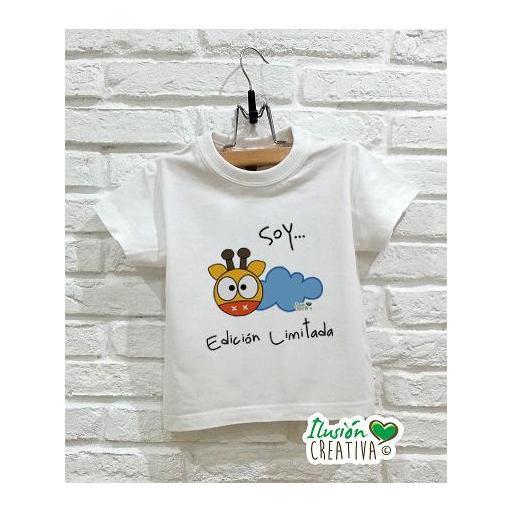 Camiseta Línea Chiquinete Jirafa Amapola.- Soy edición limitada [0]