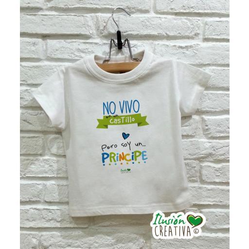 Camiseta niño - No vivo en un castillo pero soy un príncipe