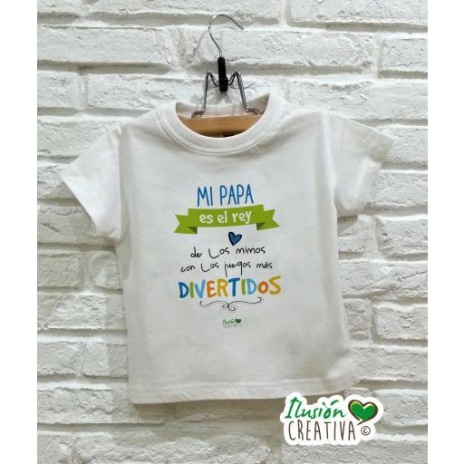 Camiseta niño - Mi papá es el rey