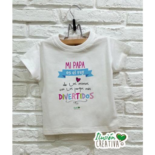 Camiseta niña - Mi papá es el rey