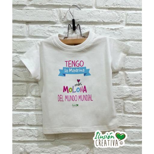 Camiseta niña - Madrina molona