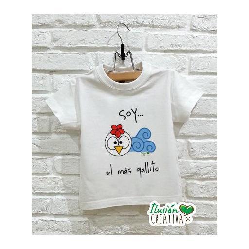 Camiseta Línea Chiquinete Gallo Miguel.- Soy el más gallito