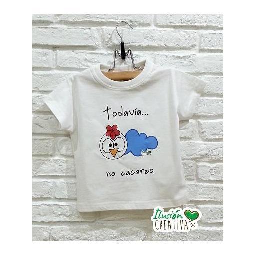 Camiseta Línea Chiquinete Gallo Miguel.- Todavía  no cacareo