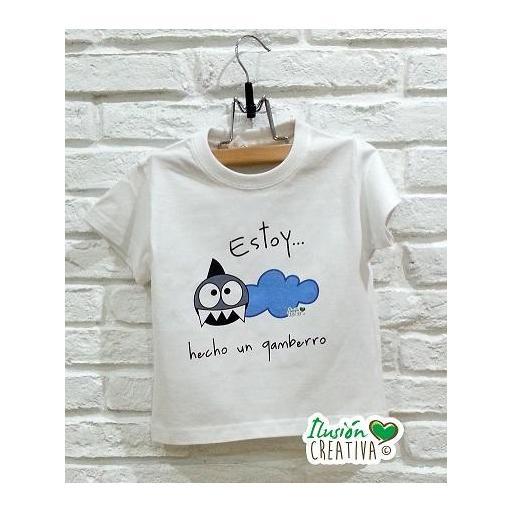 """Camiseta Línea Chiquinete Tiburón """"B""""enancio.- Estoy hecho un gamberro"""