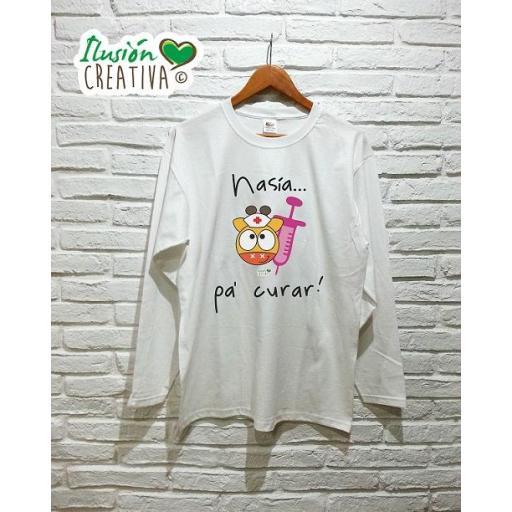Camiseta Mujer - Enfermera nasía pa' curar