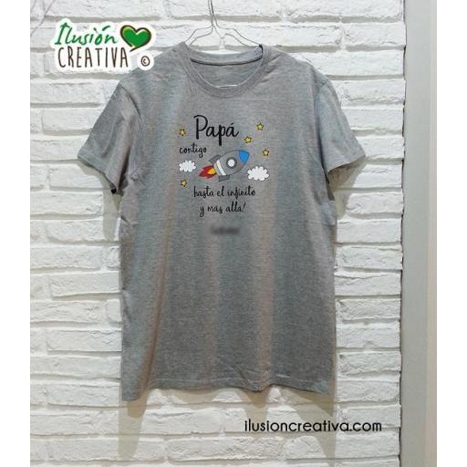 Camiseta Hombre - hasta el infinito y mas allá