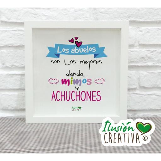 Cuadro Decorativo Abuelos Achuchones - Niña