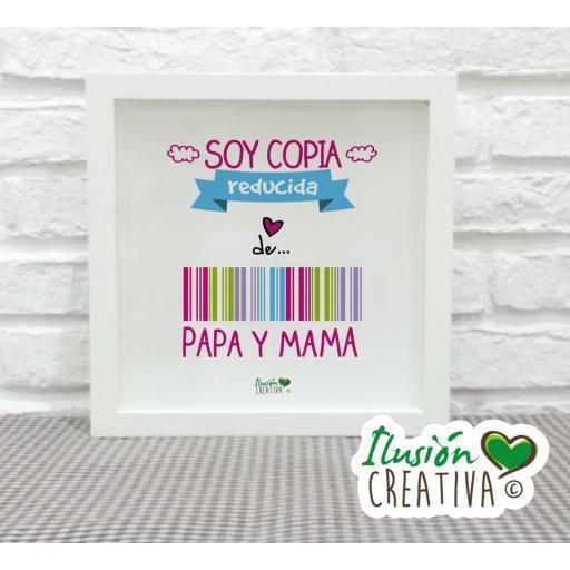 Cuadro Decorativo Soy copia reducida - Niña