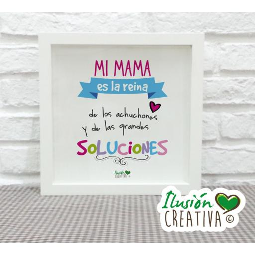 Cuadro Decorativo Mi mamá es la reina - Niña