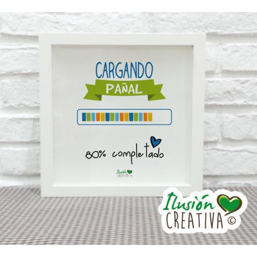 Cuadro Decorativo Cargando pañal - Niño