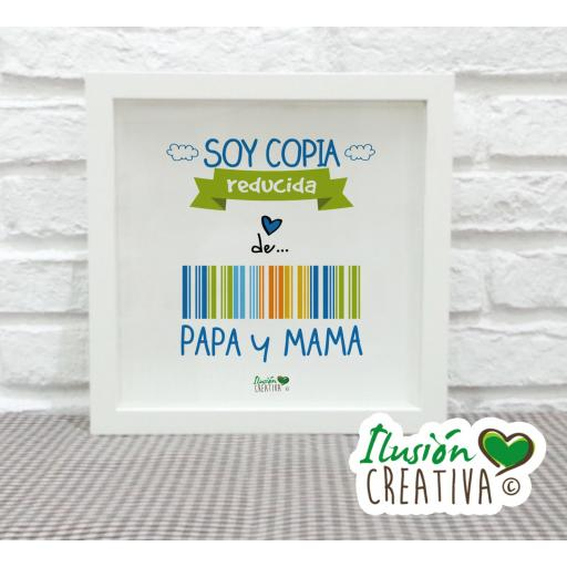 Cuadro Decorativo Soy copia reducida - Niño