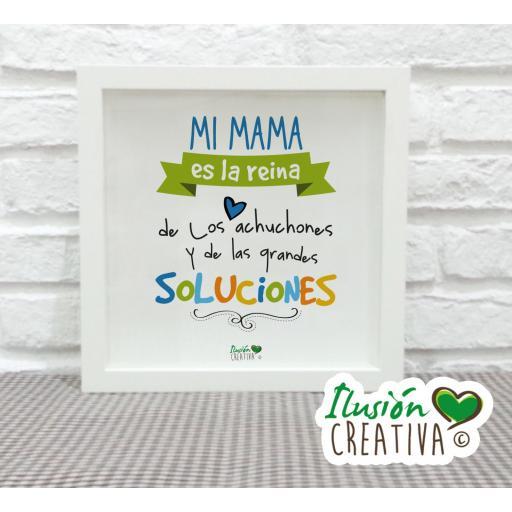Cuadro Decorativo Mi mamá es la reina - Niño