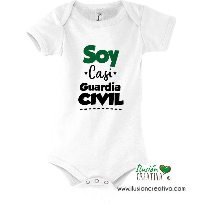 Body bebé - Soy casi guardia civil