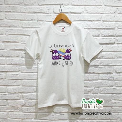 Camiseta Semana Santa - Lo dijo bien clarito tomad y bebed