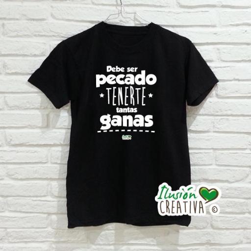 Camiseta DEBE SER PECADO TENERTE TANTAS GANAS [1]