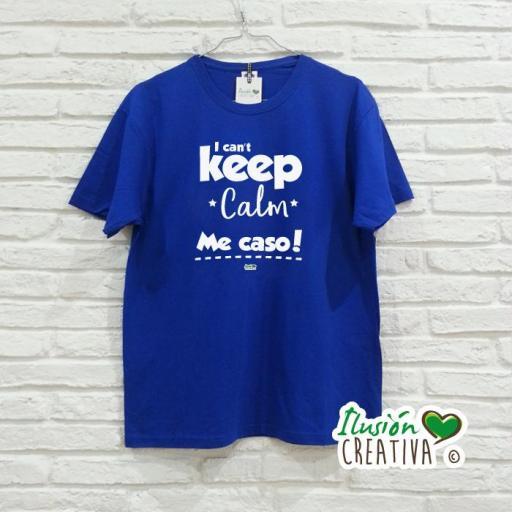 Camiseta Hombre - I can't keep calm, me caso