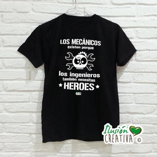 Camiseta Hombre - Calavera Mecánica