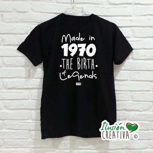 Camiseta Hombre.- Leyendas