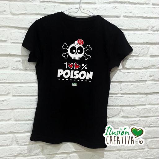 Camiseta Mujer - 100% veneno