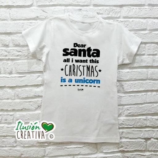 Camiseta Mujer - Dear Santa