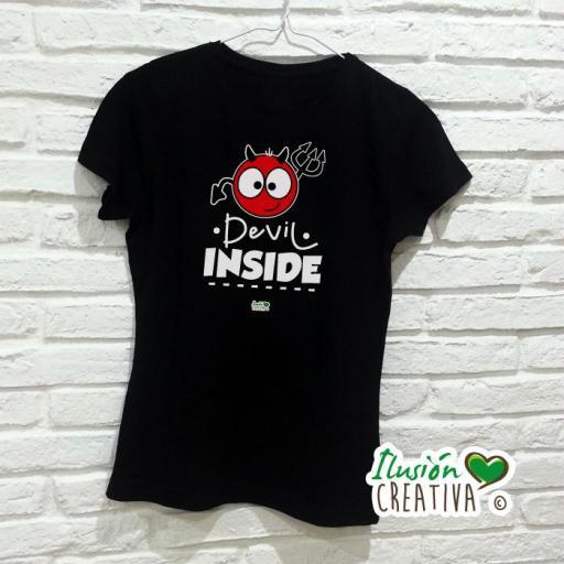 Camiseta Mujer - Devil Inside