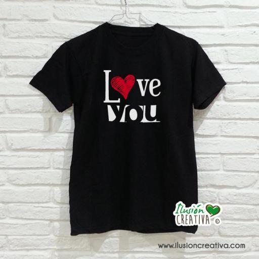 Camiseta I LOVE YOU - hombre