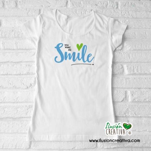 "Camiseta mujer ""me haces sonreir"""