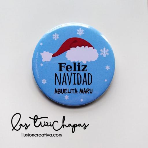 Chapas PERSONALIZADAS para Navidad - Gorro