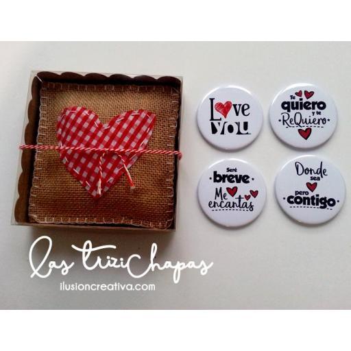 Pack de chapas San Valentin - para ella