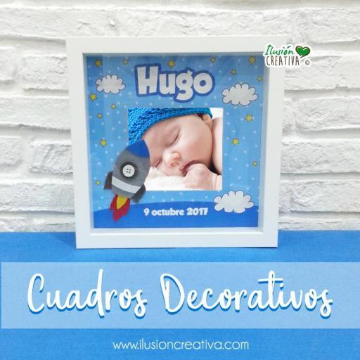 Cuadro Decorativo Niño.- Nombre y fecha