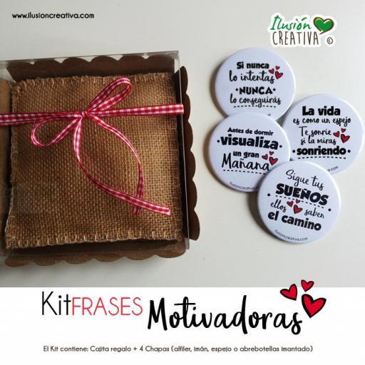 Kit de Chapas con Frases Motivadoras