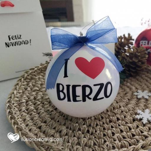 Bolas de Navidad I love Bierzo