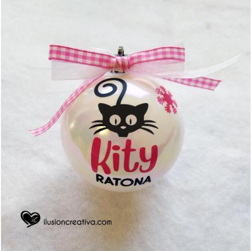 Bolas de Navidad Personalizadas GATA con silueta