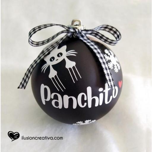 Bolas de Navidad Personalizadas GATO con silueta
