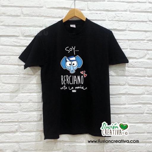 Camiseta Unisex - Soy berciano hasta la médula + chiquinete elefante