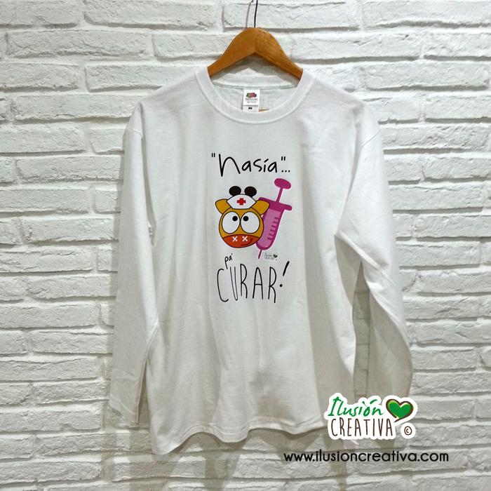 Camiseta Mujer - Nasia pa' curar! (chiquineta)