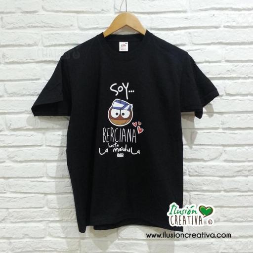 Camiseta unisex - Soy berciana hasta la médula + chiquinete castaña