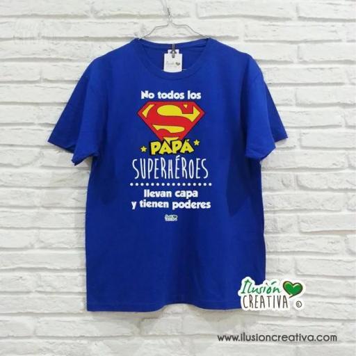 Camiseta Hombre - Super Papá Super héroe