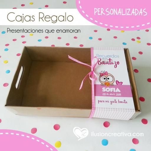 Caja PERSONALIZADA para Bautizos - Chiquinete bebé - Niña
