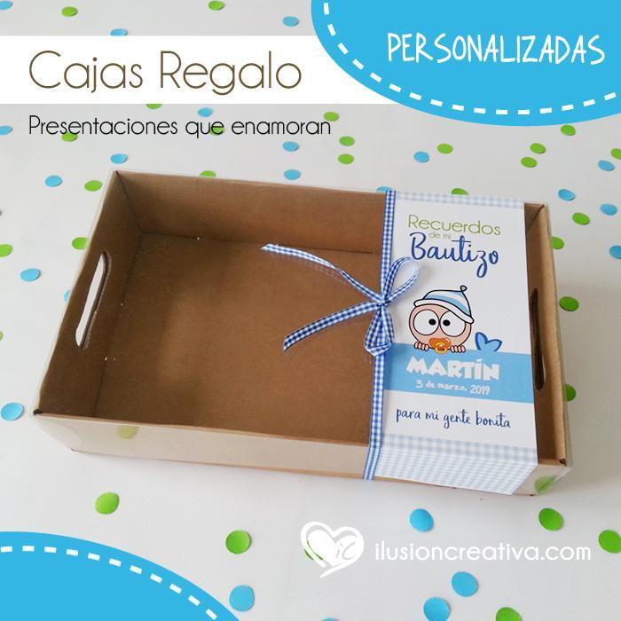 Caja PERSONALIZADA para Bautizos - Chiquinete bebé - Niño