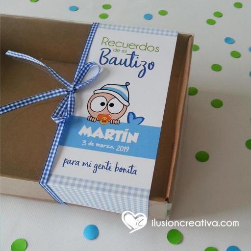 Caja PERSONALIZADA para Bautizos - Chiquinete bebé - Niño [1]