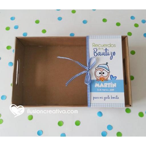 Caja PERSONALIZADA para Bautizos - Chiquinete bebé - Niño [2]
