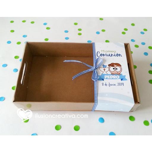 Caja PERSONALIZADA para Comunión - Chiquinete Primera Comunión - Niño [2]