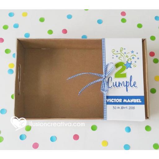 Caja PERSONALIZADA para Cumpleaños - Star - Niño [2]
