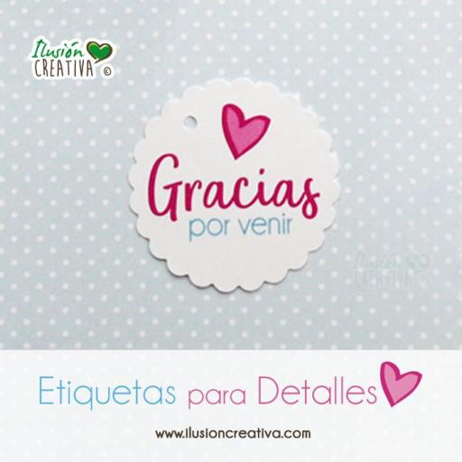 Etiquetas para detalles de Comunión - Niña - Gracias - Modelo 01