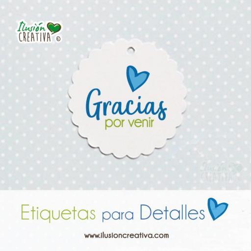 Etiquetas para detalles de Comunión - Niño - Gracias - Modelo 01