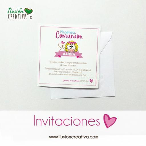Invitaciones Primera Comunión - Niña - Modelo 01